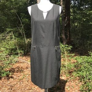 Michael Kors Zipper Pocket Charcoal Dress Size 10